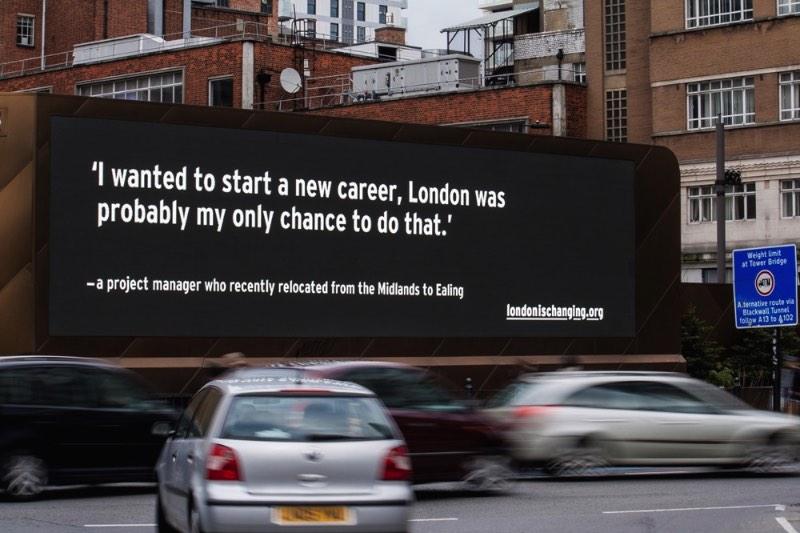 um projeto para dar voz a quem anda sendo expulso de Londres