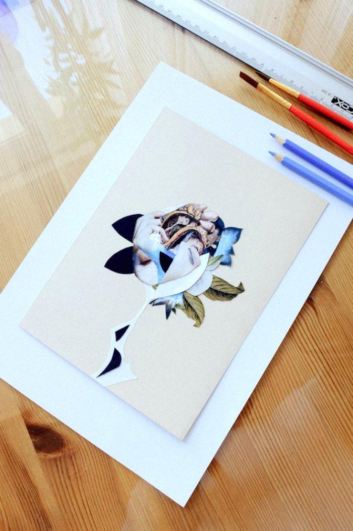 Rocio Montoya cria colagens surreais que misturam o corpo humano com a natureza. O resultado desses trabalhos é uma mistura de elementos gráficos colecionados por várias revistas e livros botânicos antigos. Com essas colagens, Rocio Montoya acaba criando atmosferas poéticas e perturbadoras de uma forma quase onírica.