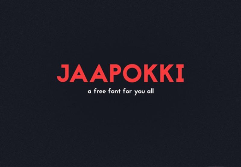 Mikko-Nuuttila---Jaapokki---Free-Font-Cover