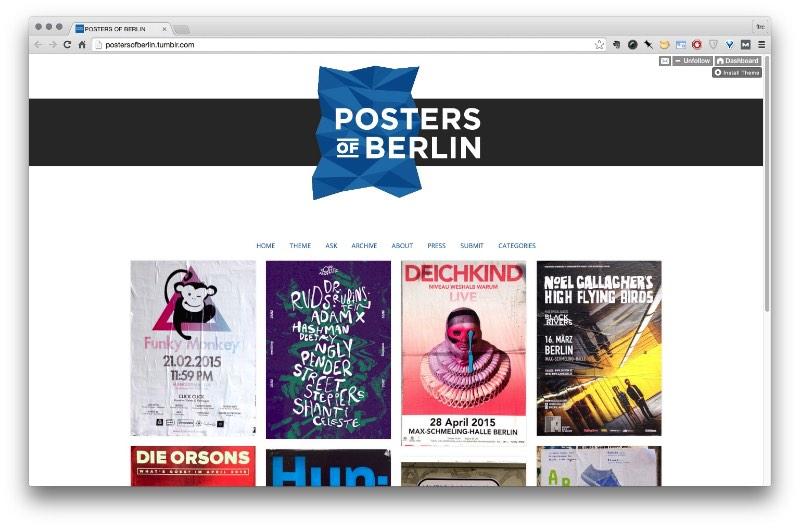 Posters nas ruas de Berlin