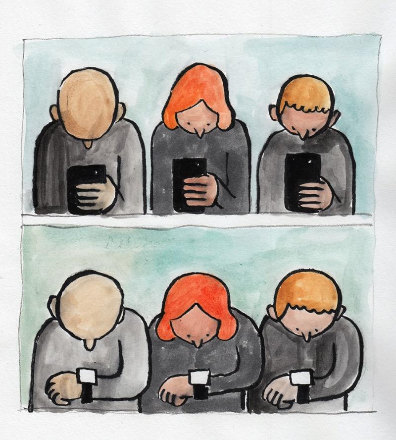 As Ilustrações Satíricas de Jean Jullien sob nosso comportamento e tecnologia