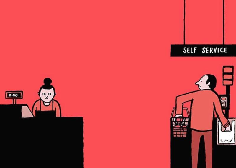 Como um artista francês cria ilustrações satíricas sobre nossa sociedade e como nos relacionamos com tecnologia e nossos celulares