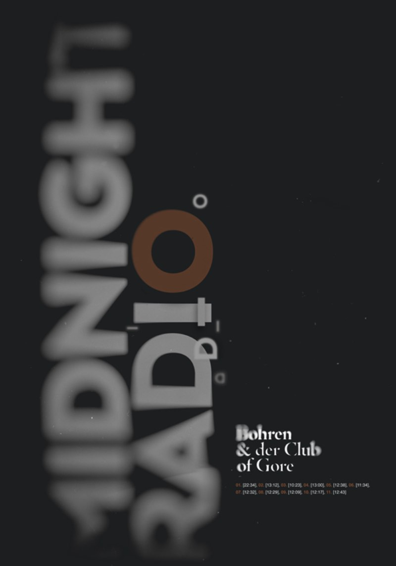 Patryk Hardziej e seus posters para Bohren & der Club of Gore