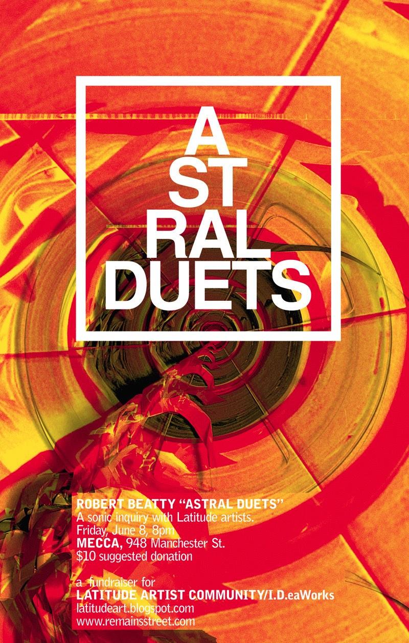 Robert Beatty é um artista e músico americano cujo portfólio é repleto de discos e de posters de shows num estilo que é difícil de explicar.