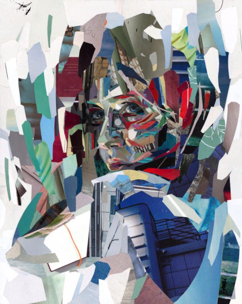 Toda beleza dos retratos feitos de milhares de pedaços de papel do Patrick Bremer