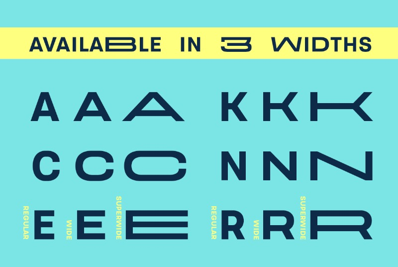 Velodroma é uma fonte gratuita criada pelo designer tcheco Jan Charvát. Essa fonte é conhecida pela sua largura visual de uma forma que passa um estilo vintage tipograficamente falando.