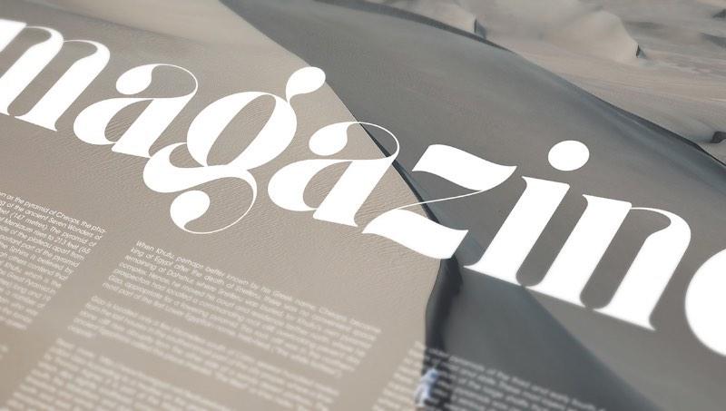 Giza Pro é uma fonte gratuita que pode ser usada muito bem para trabalhos editoriais, convites de casamento, menus de restaurante e onde mais sua imaginação permitir. Sua principal função é como fonte display e vem com mais de 190 variações de decorações.
