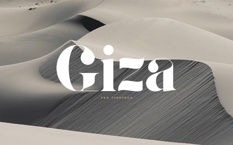 Giza Pro - Fonte Gratuita da Semana