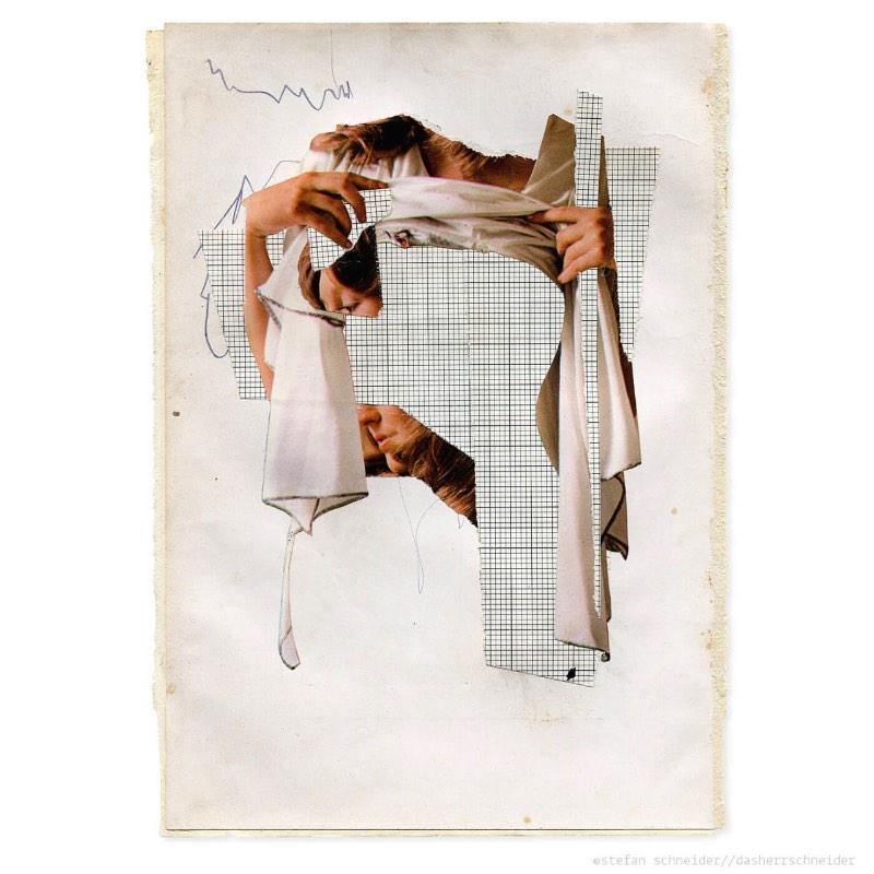 Dasherrschneider é o nome que Stefan resolveu adotar para seu trabalho de colagens. Baseado em Berlin, o artista trabalha criando colagens manuais inspiradas pelo visual de revistas, jornais e fotografias antigas.