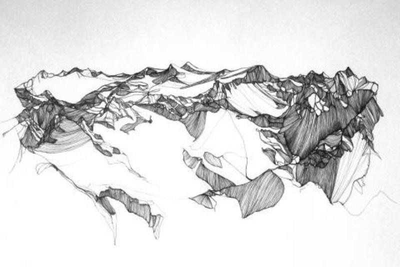 Jennifer Burtchen tem um pequeno mas interessante portfolio de ilustração e eu adorei seus desenhos de montanhas. Feitas de forma simples, com lápis e papel, essas ilustrações ainda vem com o peso total da montanha em si. Algo que eu não tenho ideia de onde veio.