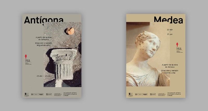 Aqui vocês podem ver os posters da temporada de 2014-2015 do Teatro de La Abadía criado pelo pessoal do estúdio Tres Tipos Gráficos, lá de Madrid. O apelo da direção de arte foi focado no lado fotográfico do design gráfico e cada peça era representada com uma fotografia.