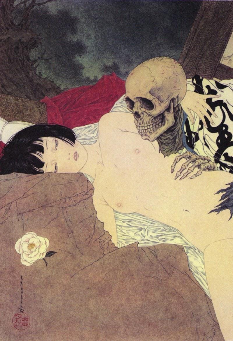 A Arte de Takato Yamamoto poderia ser descrita como uma brilhante mistura de ilustração, sexo e violência.
