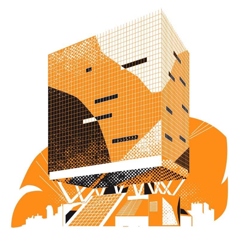 As ilustrações que você vai ver aqui nesse artigo são todos os prédios de escritório que a Shelbourne tem nos Estados Unidos. Esse material foi ilustrado pelo Ben The Illustrator e vai fazer parte de alguns materiais gráficos como folders, flyers, entre outros.