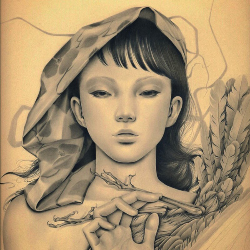Ozabu é como é conhecida a artista japonesa que você vai ver nas imagens abaixo. Seu trabalho de ilustração e arte é fenomenal e tenho certeza de que vocês vão gostar. O que mais me chamou a atenção no trabalho da Ozabu é a forma com a qual ela trabalha com as sombras e as formas do rosto humano, seguindo um visual que, pelo menos para mim, é extremamente japonês.