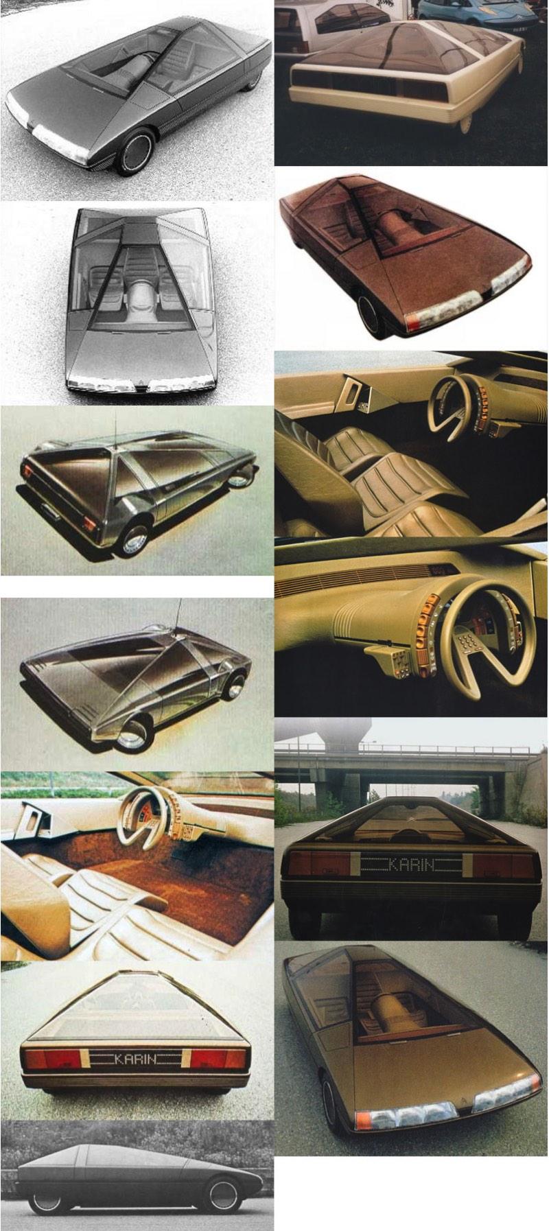 A história diz que a Citroën não tinha nenhum automóvel novo para apresentar no Salão de Paris de 1980 e por isso mesmo deu toda a liberdade para que Trevor Fiore criasse um modelo para o evento. E, de toda a liberdade que Trevor Fiore recebeu surgiu o Citroën Karin, um dos veículos mais interessantes que já saíram dos anos oitenta.