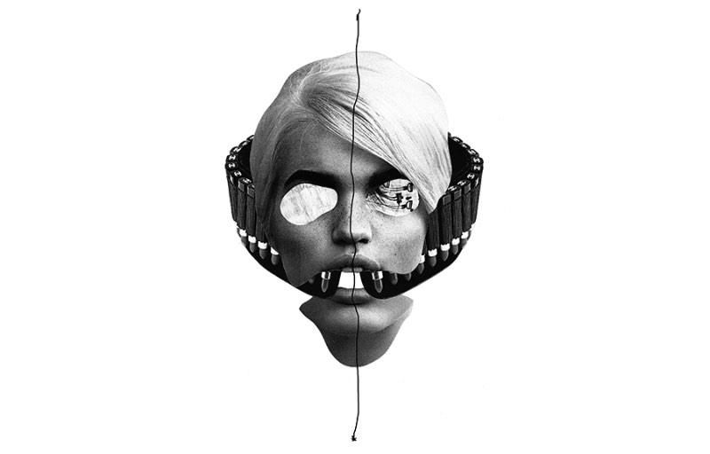 Hacked é o nome dessa série de ilustrações criada usando mixed media pelo artista americano Jesse Draxler. Gosto da forma expressiva com a qual ele trabalha com o rosto humano e foi por isso que acabei selecionando esse projeto.