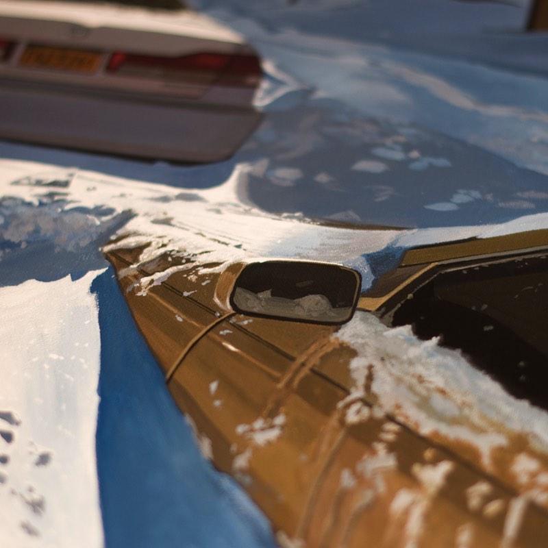 Luis Perez é um artista espanhol cujo estilo de pinturas hiper-realistas tem a proposta de reviver o Regionalismo, estilo americano que costumava retratar cenas dinâmicas da vida urbana e rural. Quando você der uma olhada nas imagens abaixo, tente manter esse detalhe em mente.