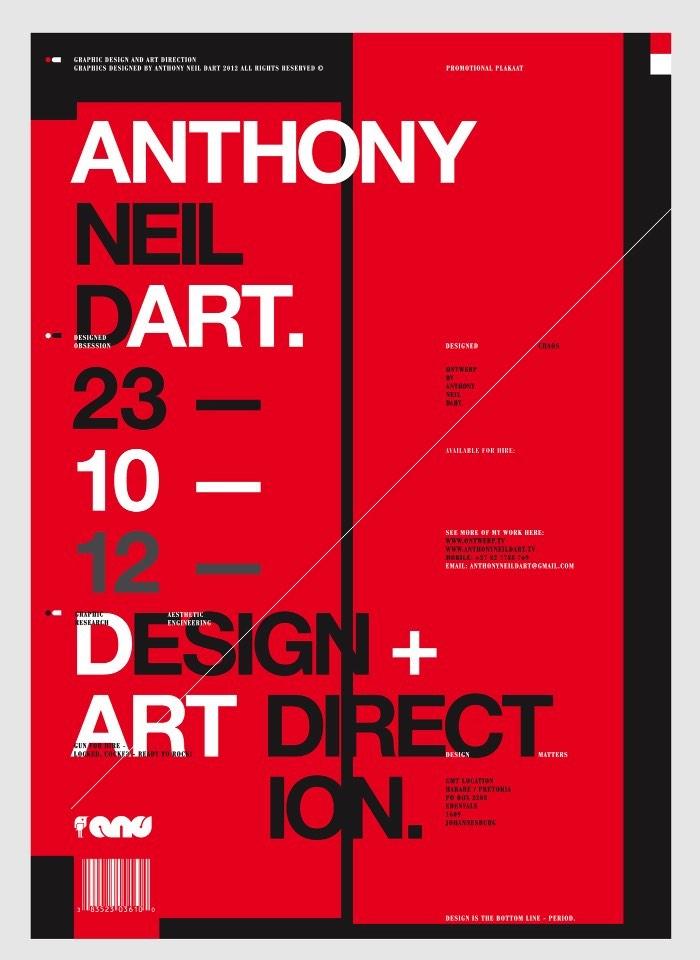 Anthony Neil Dart é um designer, originalmente da África do Sul, cujo portfólio de ilustração e design gráfico capturou minha atenção completamente. Tudo isso por que, muito do que vi por lá, seu trabalho me lembrou muito um dos meus estúdios de design favoritos: o Non-Format. Não sei se foi proposital ou se eu sou a única pessoa que vê as coisas dessa forma mas, essa semelhança visual foi o que chamou minha atenção no início.