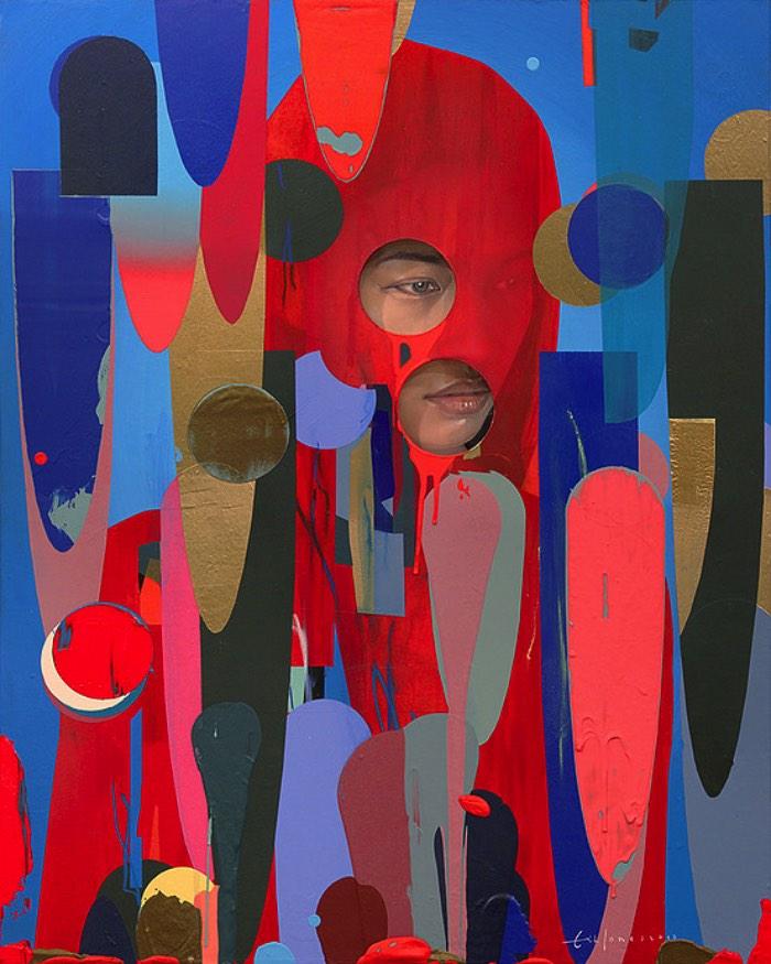 Já ando acompanhando o trabalho do Erik Jones tem alguns anos. Seja pelo instagram, facebook ou mesmo no seu portfolio online e sempre gosto de fazer uma visita a sua presença online para descobrir o que ele anda fazendo. Afinal, sua mistura de formas geométricas, caveiras e retratos femininos é inspirador e extremamente interessante.