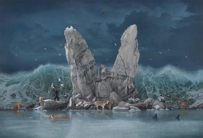 Observar as pinturas criadas por Joel Rea é como viajar no tempo para uma época onde o romantismo ainda fazia sentido como estilo artístico. Foi nesse movimento artístico que encontrei mais detalhes em comum com o que o artista australiano produz. Mas, seu trabalho é mais complexo do que isso. Tanto que ele resolveu chamar seu estilo de pinturas de Surrealismo Contemporâneo e, por incrível que pareça, isso faz muito sentido.