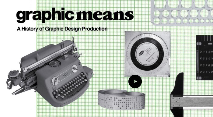 O video que você vai ver abaixo é o primeiro trailer de Graphic Means a ser lançado. Nesse filme, dirigido por Briar Levit, aprendemos um pouco mais sobre como que é diferente trabalhar com design gráfico hoje quando pensamos nas décadas passadas.