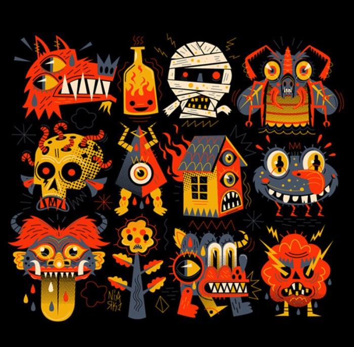 Sébastien Féraut é um ilustrador francês que parece ser obcecado em desenhar dezenas de monstros. Não, não, dezenas é pouco. Ele desenha milhares de monstros e você pode ver vários deles no seu behance.