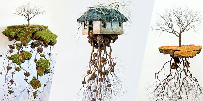 Jorge Mayet é um artista cubano que recria as paisagens de seu país através de pedaços de arame, papel e outros elementos. É assim que ele tenta formar sua cultura, suas raízes e sua identidade pessoal. E foi exatamente isso que chamou minha atenção no trabalho de escultura dele.