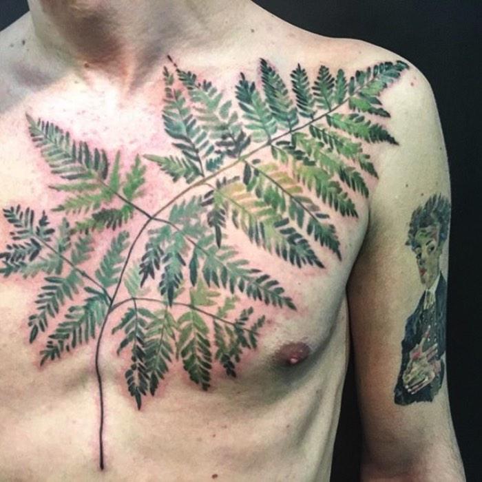 Foi em uma dessas seções de desenho que ela percebeu que poderia se aproximar ainda mais das formas originais de plantas sem precisar desenhar tanto. Em uma busca por uma forma mais orgânica de processar as imagens que seriam tatuadas, Rit Kit pegou uma folha e a colocou na tinta usada para fazer o estêncil de tatuagem. Assim surgiu uma forma nova de trabalhar com tatuagem e os resultados são fora do comum.