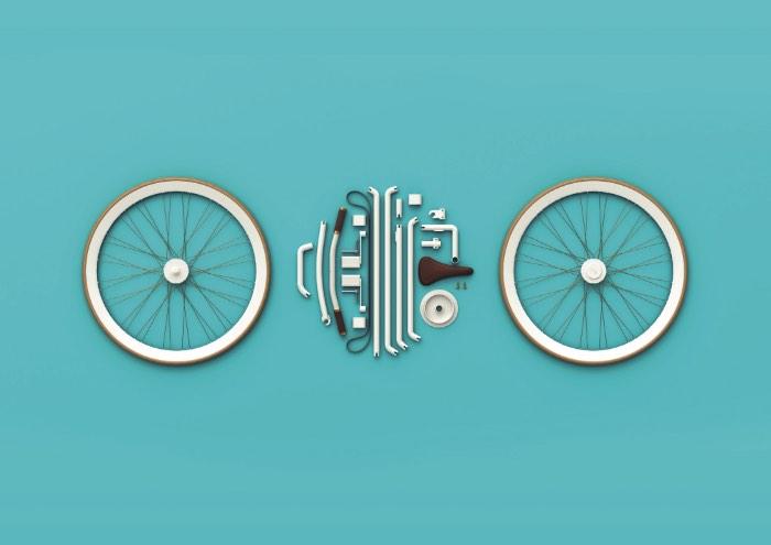 É lá de Bangalore, na Índia, que vem um dos designs mais interessantes que já vi quando se trata de bicicletas: Kit Bike. O pessoal do Lucid Design conseguiu, finalmente, desenvolver uma bicicleta que cabe dentro de uma mochila sem perder pontos no tamanho da roda e no formato familiar que todos já conhecemos.