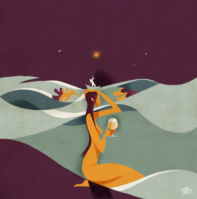 Riccardo Guasco é um pintor e ilustrador italiano baseado em Wales, no Reino Unido. A arte que ele cria consiste de uma constante pesquisa sobre o peso da formas e das cores do calor e como esses fatores podem mudar com o uso de poucas cores e linhas simples.