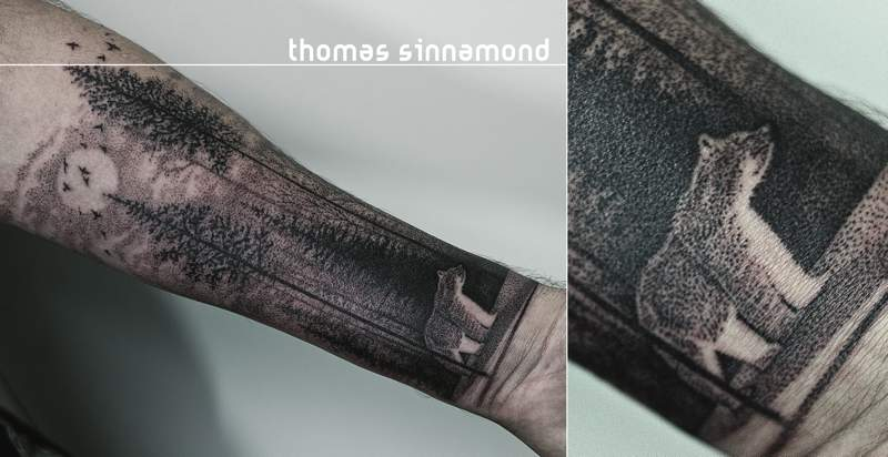 Sempre estou interessado em tatuagens que superam o que uma tatuagem deve ser e acabam as transformando em algo diferente. Foi isso que eu pensei quando me deparei com o instagram do Thomas Sinnamond. Seu trabalho de tatuagem parece ser focado no que essa arte poderá ser e não no que ela deve ser e eu gostei muito do que vi por lá. Tanto que sai pesquisando e tive que escrever esse artigo aqui para compartilhar com vocês o que Thomas Sinnamond faz.