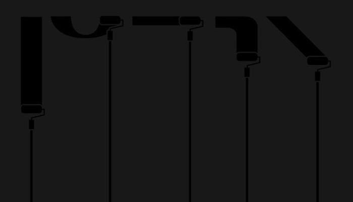 Rooftop, criação do designer Róbsom Aurélio, é uma família tipográfica modular baseada nas pixações feitas através de rolinhos de espuma fixados em extensores e muito praticadas em Brasília. Através do uso dos extensores, o alcance dos pixadores é aumentado e eles passam a alcançar locais que não conseguiriam chegar utilizando sprays.