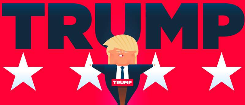 Os Estados Unidos são uma ótima fonte de piadas para o mundo e uma das maiores forças tragicômicas dos últimos meses é Donald Trump, um pseudo bilionário que é candidato a presidência do país. Ele é um personagem tão peculiar que fizeram o #TRUMPFACTS como forma de satirizar com essa pessoa tão estranha.