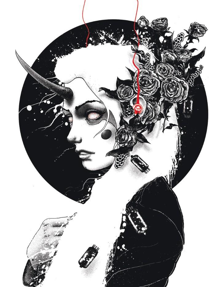 As imagens criadas por Nikita Kaun são góticas na sua essência e misturam referências de ocultismo com linhas pesadas que, algumas vezes, aparecem gastas e limitadas pelo uso esparso de cores. Por isso mesmo, as obras criadas pelo artista tem um visual quase hipnótico. Observar suas ilustrações é como mergulhar num mundo de sonhos estranhos onde você não sabe o que vai acontecer depois do seu próximo passo. Acho que, dessa vez, você não vai sobreviver.