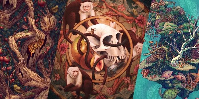 Kate O'Hara é o nome da ilustradora cujos trabalhos você vai ver aqui. Seu portfólio é repleto de belíssimos exemplos de desenhos de animais que, várias vezes, se misturam com a natureza numa espécie de chamado selvagem que tem resultados visuais bem interessantes. Seus traços orgânicos e suas combinações de cores, somados aos temas que ela usa, fazem com que seu portfólio de ilustração seja um dos mais interessantes que vi nas últimas semanas.