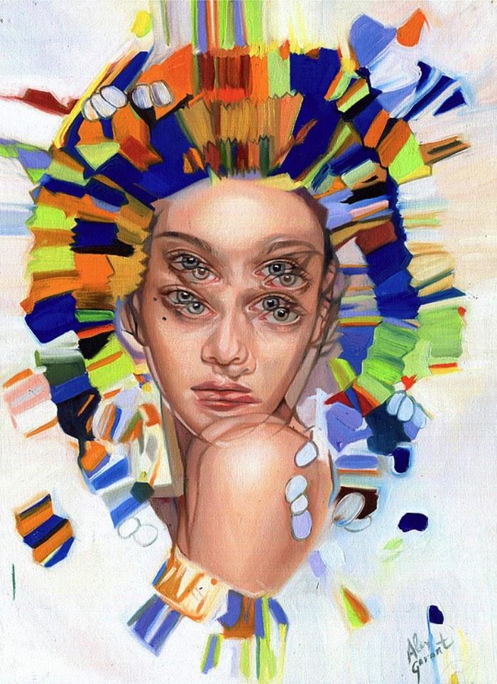 Alex Garant é conhecida internacionalmente pelos suas imagens repletas de olhos duplicados e fortes cores que parecem criar cenas que são mais próximas de sonhos do que realidade. Visitar seu portfólio apenas confirma tudo que você pode imaginar sobre as imagens que ela cria e foi por isso mesmo que ela acabou e tornando a Rainha dos Olhos Duplos. Um título mais que merecido depois que você der uma olhada nas imagens que selecionei logo abaixo.