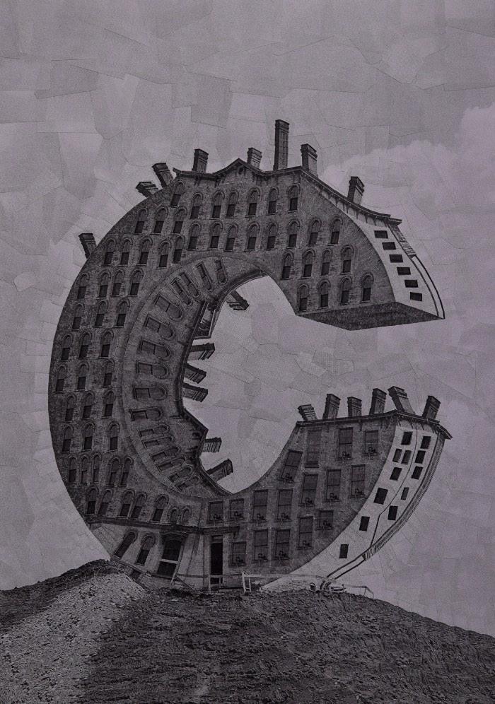 Lola Dupre é uma artista espanhola com um estilo de colagem que eu acho mais do que fenomenal. O jeito com o qual ela faz caricaturas de figuras públicas de um jeito quase surreal é bem interessante e eu fiquei bem feliz quando me deparei com um projeto experimental dela. Nesse projeto ela brinca com tipografia e usa do seu estilo de colagem bem peculiar para criar uma série de imagens bem especiais.
