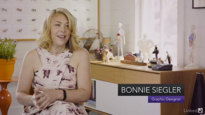 Bonnie Siegler é uma designer americana que fez seu próprio caminho, sua carreira. E ela fez isso quebrando todas as regras do design. Ela começou sua carreira na MTV, no início dos anos oitenta, com uma ligação para a empresa e uma oferta de trabalho. Foi assim que tudo começou.