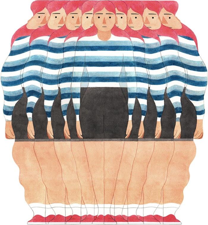 Eleni Kalorkoti é uma ilustradora escocesa que vive e trabalha em Londres. Ela estudou arte na Escola de Artes de Edimburgo e acabou se formando lá, em 2007, e, logo depois, foi estudar técnicas de impressão na Edinburgh Printmakers. Hoje em dia, seu trabalho é composto de ilustrações e imagens, criadas do sul de Londres com muito carinho e atenção aos detalhes.
