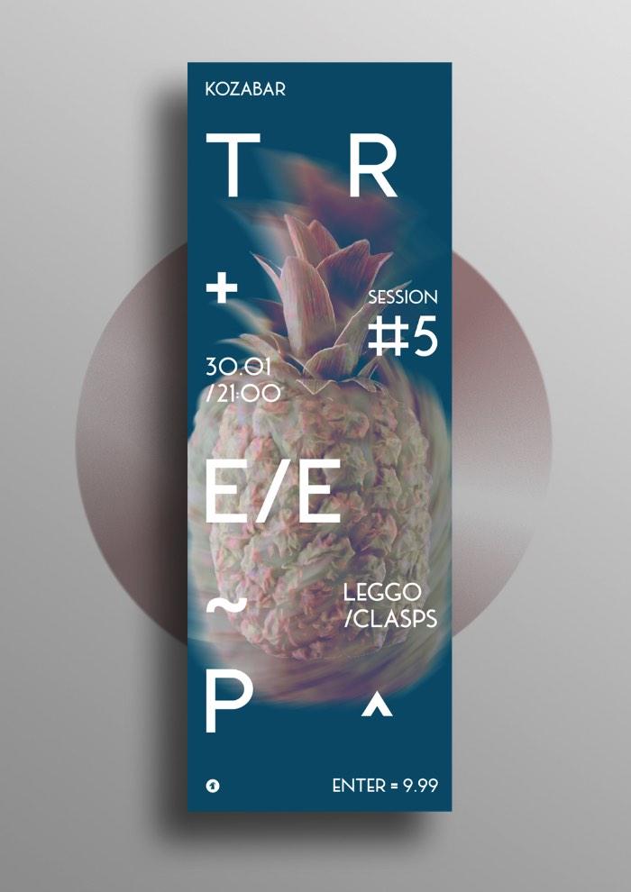 Anton Synytsia é um designer gráfico ucraniano que também trabalha produzindo uma série de festas de techno underground que são conhecidas como ??????. É ai que ele desenvolve seu melhor trabalho de design, repleto de um estilo bem experimental e uma tipografia bem interessante.