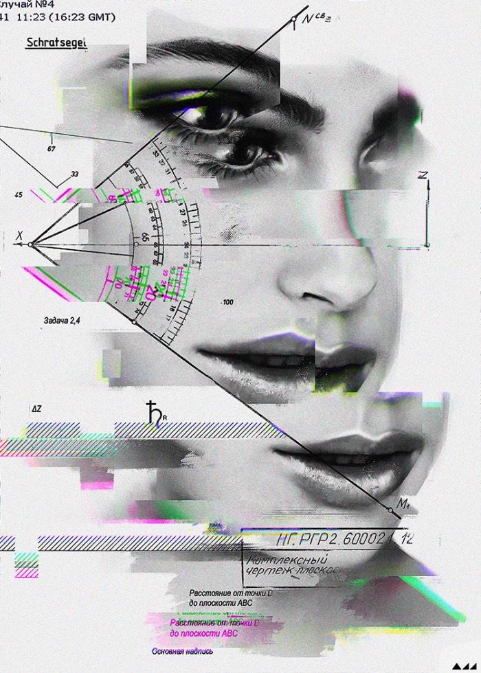 Evgeny Add é um artista digital e ilustrador lá da Sibéria e seu trabalho mistura elementos de pintura foto-realista com glitches digitais e gráficos matemáticos que representam uma realidade distorcida. Ele documenta momentos simples do dia a dia de todo ser humano mas acaba mudando tudo ao acrescentar outros elementos.