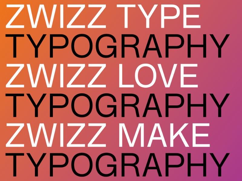 Zwizz é o nome dessa fonte inspirada no design gráfico que vem da Suíça. A fonte é derivada da conhecida Radnika mas com finalizações horizontais e verticais que são bem similares ao que você veria em uma Helvetica. A forma com qual a tipografia aqui foi desenhada é propositalmente compacta e é perfeita para composições tipográficas em espaços pequenos. Um problema que muitos designers sabem muito bem como enfrentar.