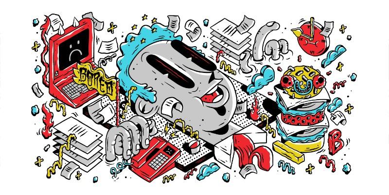 DXTR é um ilustrador alemão baseado em Berlim que, parece, ter desenvolvido seu estilo de ilustração direto da arte de rua que vemos pelas ruas da capital da Alemanha. Descobri o portfólio dele ao me deparar com algumas de suas ilustrações desenvolvidas em 2016, para clientes como Wacom, ESPN e Patagonia. Abaixo, você pode ver o porquê que eu gostei tanto do que ele faz.
