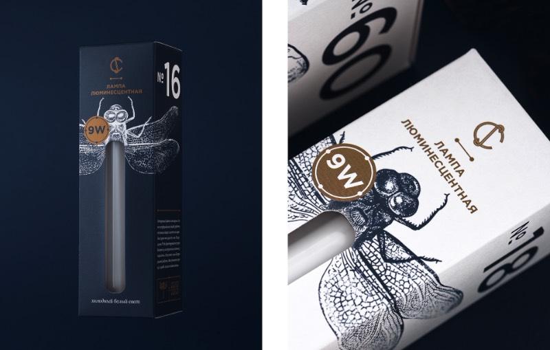 Para criar o visual das novas embalagens da CS Light Bulbs, a designer bielorussa Angelina Pischikova seguiu a direção das origens da eletricidade com Thomas Edison e resolveu explorar a etimologia dos insetos. Misturando isso tudo, ela acabou criando uma embalagem com um design fora do comum e que parece, quase ser, colecionável.
