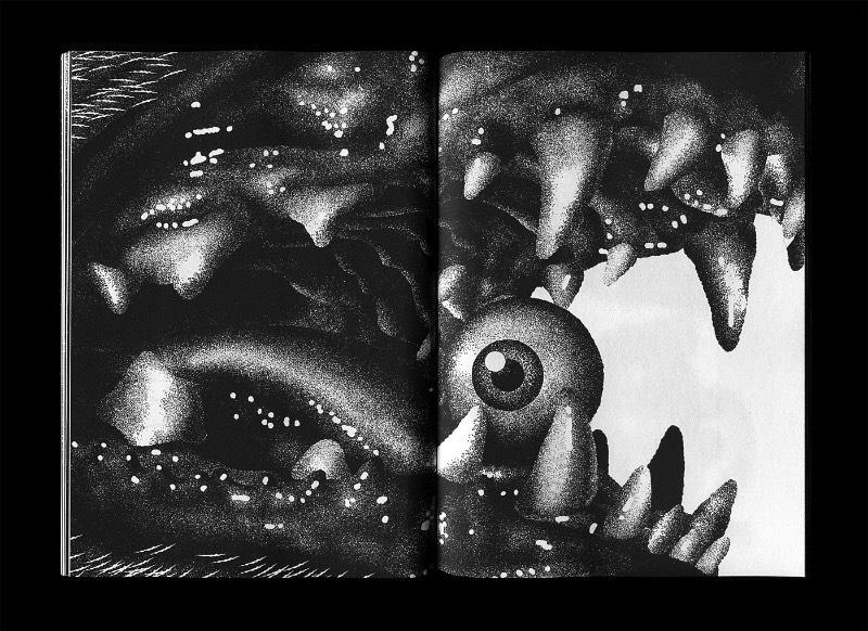 Daymare Boogie é um livro de arte criado pelo ilustrador e designer gráfico Max Löffler sobre essa coisa estranha que chamamos de vida e sobre todas as coisas estranhas que acontecem com a gente. Claro que, como o nome Daymare Boogie já diz, o foco aqui é voltado para o lado escuro e bizarro de tudo que acontece com a gente ou que achamos que poderia acontecer. Afinal, o nome do projeto já brinca com esse conceito de pesadelos ao utilizar o termo em inglês e altera-lo para algo mais próximo da luz do dia.