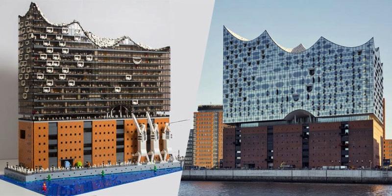 A Brickmonkey é uma empresa especializada em criações especiais usando apenas de peças de Lego. Seus projetos exploram de temas de steam punk até projetos arquitetônicos como esse da Elbphilharmonie de Hamburgo, aqui na Alemanha.