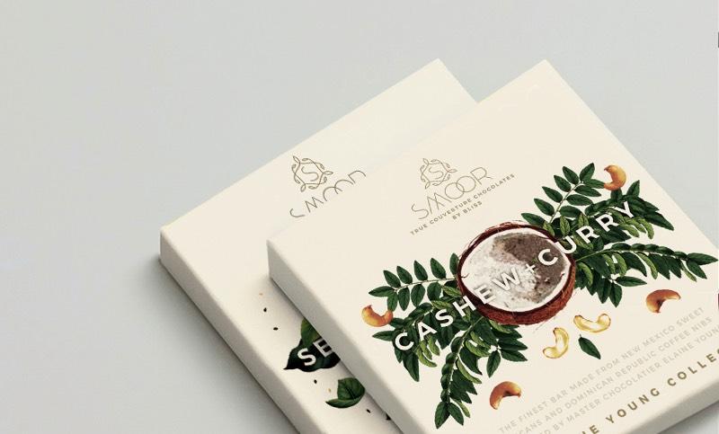 As Embalagens cheias de Ilustracoes Botânicas que a Bloombox Brand Engineers criou para a Smoor Chocolates 0