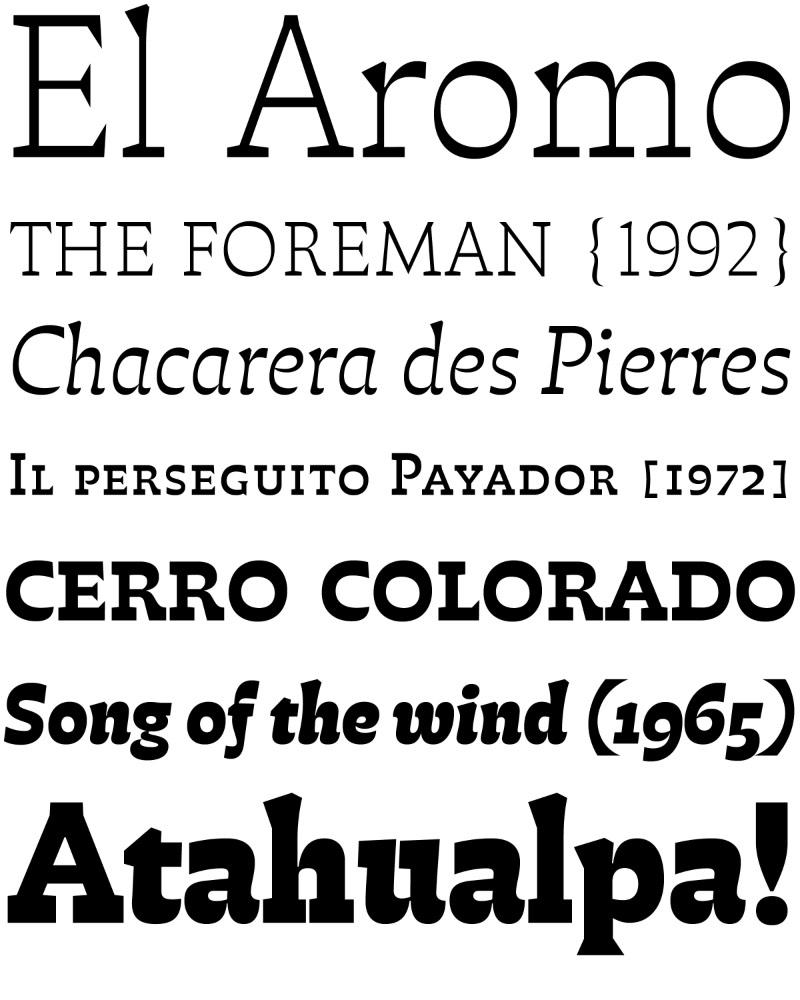 O pessoal do Pampatype acabou de lançar uma fonte nova, chamada de Atahualpa pelo seu designer, Alejandro Lo Celso. Essa nova família tipográfica foi criada, sendo inspirada música folclórica do cantor argentino Atahualpa Yupanqui e o designer tentou refletir a vida do músico no estilo e nos detalhes dessa fonte.