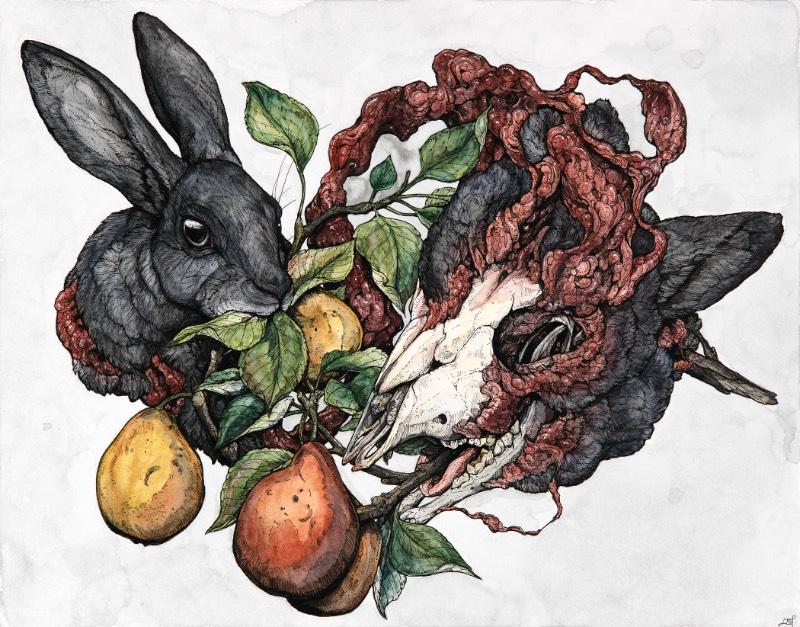 Mitologia, biologia, cosmologia e o simbolismo dos animais, esses sempre foram os tópicos que a artista americana Lauren Marx teve curiosidade. Sua atração por esses tópicos acabou levando ela a criar imagens e ilustrações que combinem todos esses elementos de um jeito que demonstre como ela enxerga a forma com a qual eles se misturam. Um argumento visual sobre a interconectividade da vida.