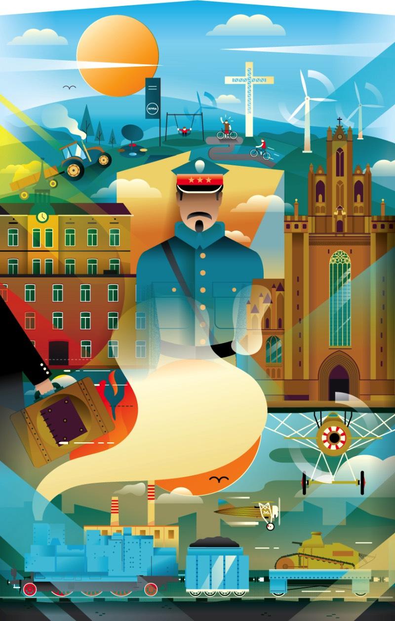 AQ Studio é o nome que o ilustrador polonês Adam Quest resolveu colocar no seu trabalho como freelancer. Baseado em Poznan, minha cidade favorita naquele país, ele apresenta vários estilos de ilustrações que são executados em diferentes plataformas, que vão de murais e revistas e outros conteúdos editoriais.